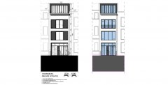 Nieuwbouw Ieperstraat kantoorhuis door architect Peter Mermans uit Antwerpen.